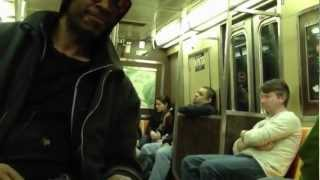 Drunk Subway Rider Don't drink and ride MTA (FunnY 2012)
