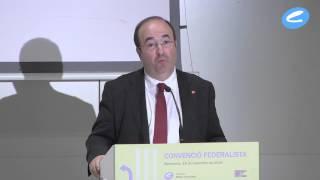 Miquel Iceta a la Convenció Federalista de 18 de setembre de la Fundació Rafael Campalans