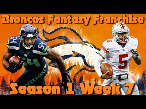 Madden 17 Denver Broncos Fantasy Franchise | Season 1 Week 7!