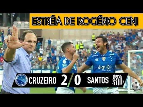 Cruzeiro 2 x 0 Santos - COMPLETO (60FPS) Gols & Melhores Momentos - Brasileirão - 18/08/2019