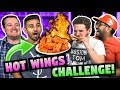 HOT WINGS CHALLENGE! (ft. FBE React Cast)
