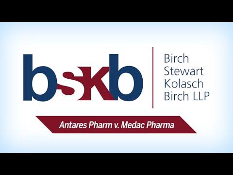 Christopher McDonald - Anatares Pharm V Medac Pharma