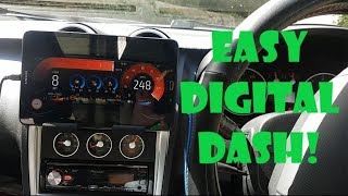Create a Digital Dash in any car! How to make a digital dash with Realdash and OBD2 link
