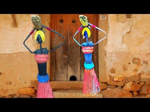 Indian Village Women Paper Craft   Paper Women Statue   Paper Craft