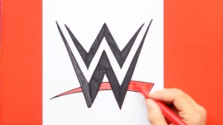 How to draw and color WWE Logo