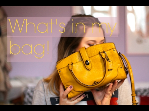 3b1688775 What's in my Bag?! ♡ Coach Mercer Satchel 24 ♡ - YouTube