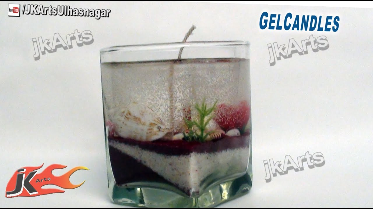diy ocean gel candle how to make jk arts 465 youtube