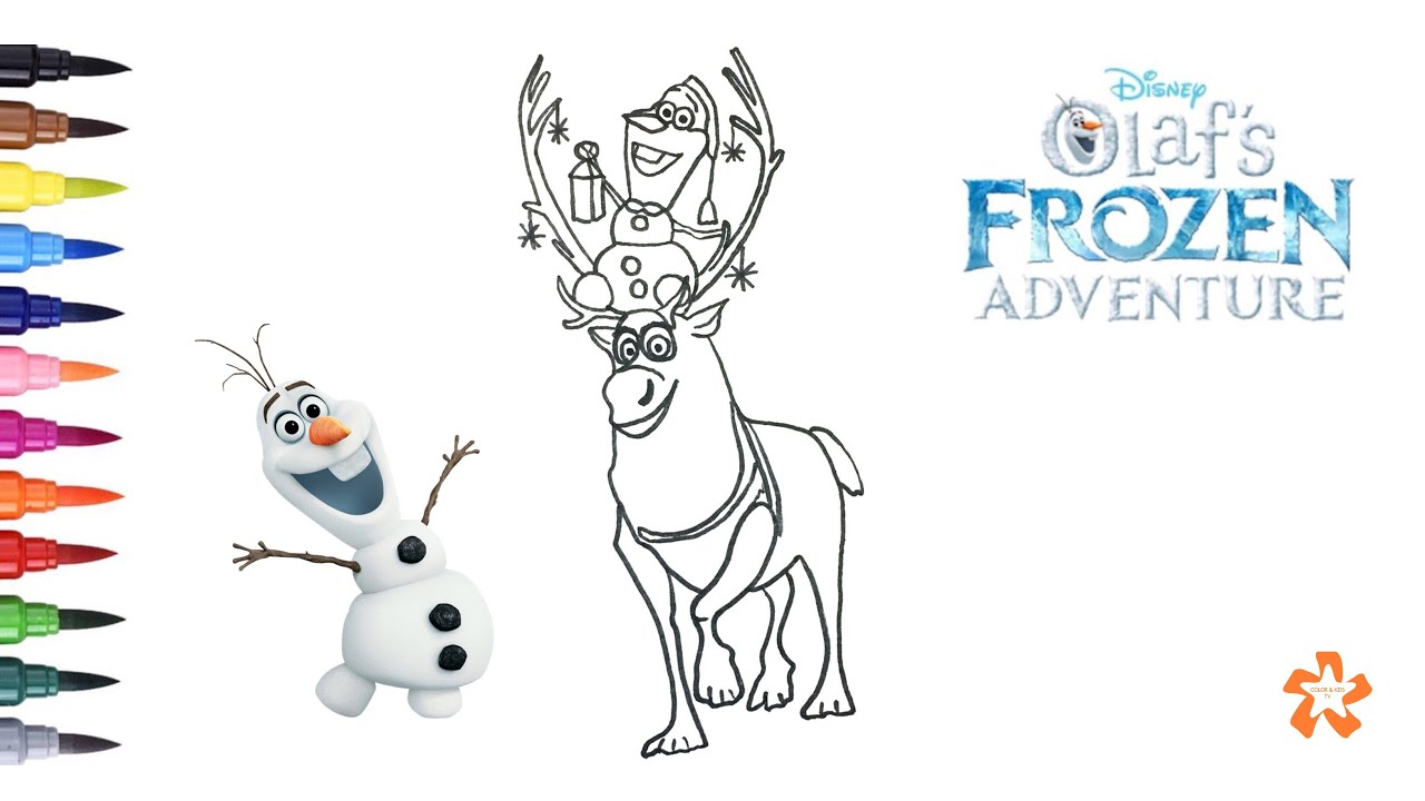 Olaf s Frozen Adventure Coloring