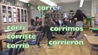 spanish song for preterite conjugation of regular ar er ir verbs