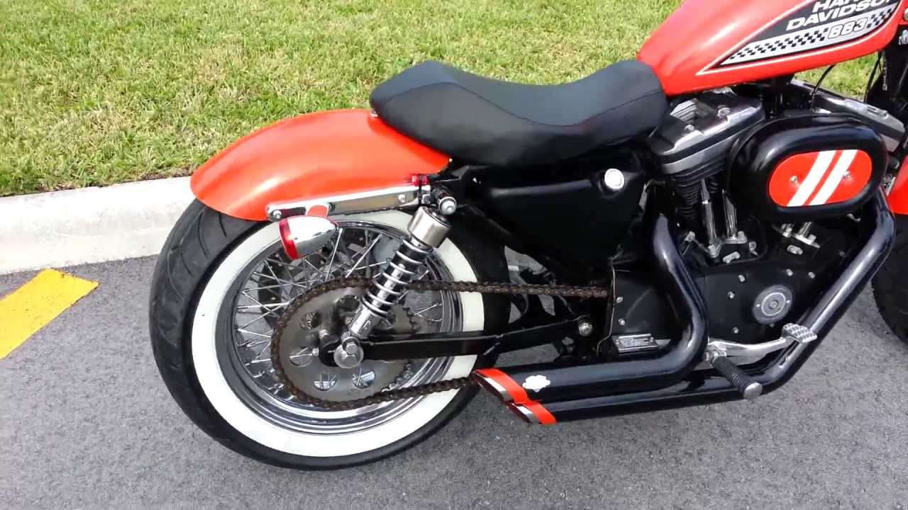 Harley Davidson Sportster Wide Tire Bobber 2002 Youtube