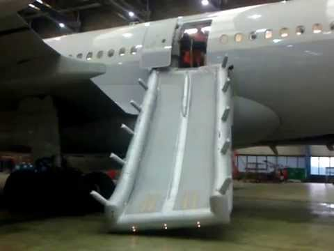 Airbus A330 Escape Slide Deployment Youtube