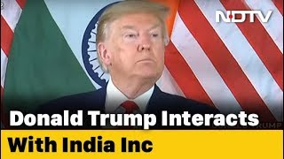 US President Donald Trump Interacts With India Inc.