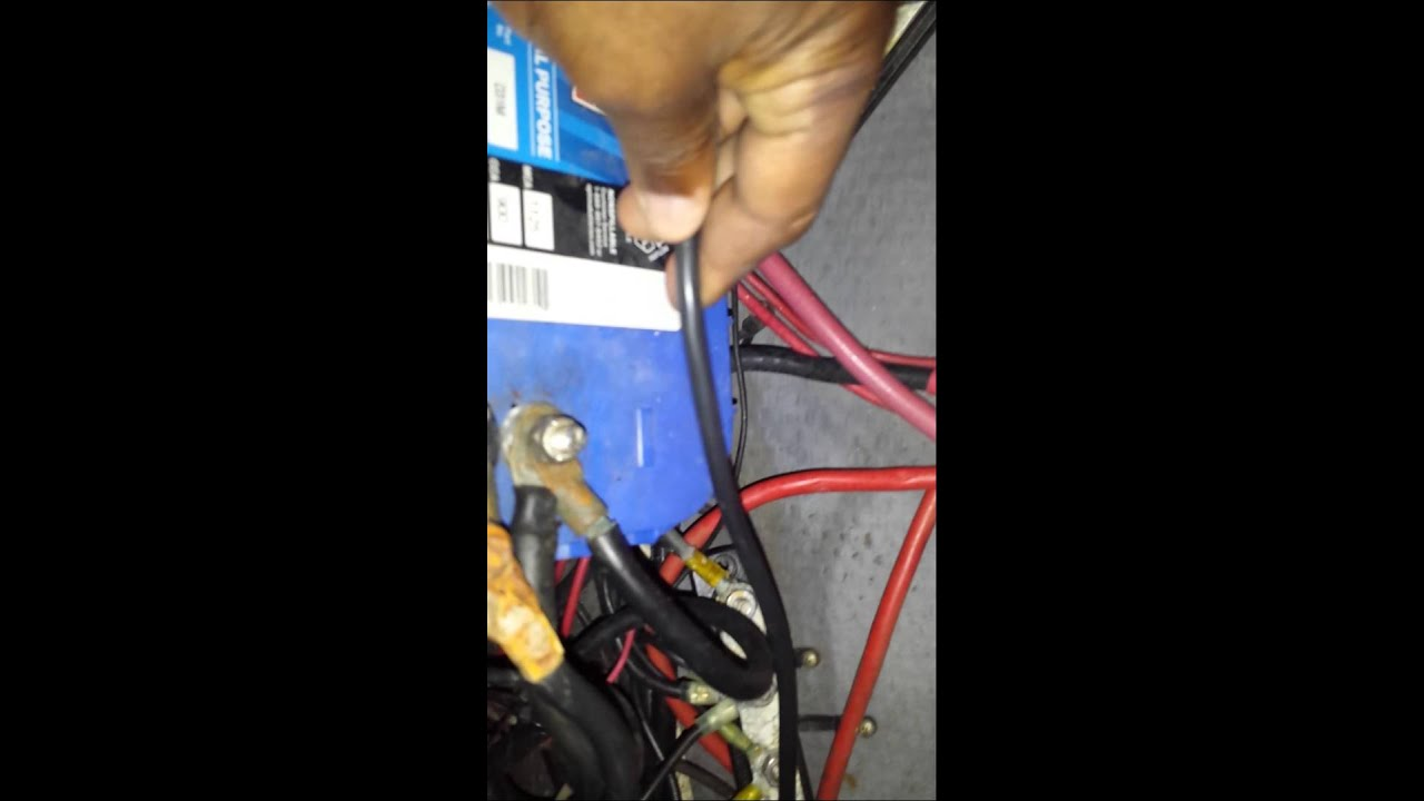 Snaking transducer wire through boat hull - YouTube