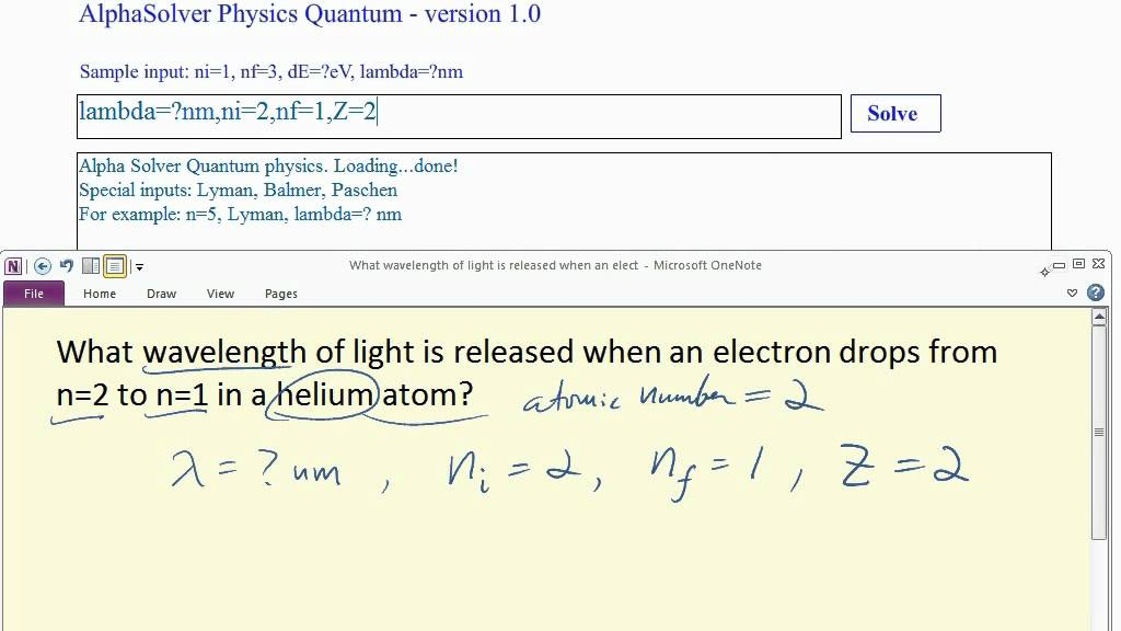 A photon energy calculator of