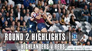 ROUND 2 HIGHLIGHTS: Highlanders v Reds - 2019