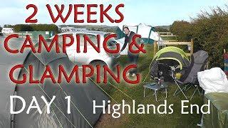 2 Weeks Camping & Glamping | Day 1 | Highlands End, West Bay, Dorset