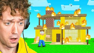 My Minecraft House WAS BURNT DOWN...