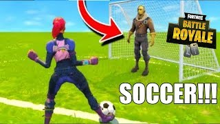 "PLAYING SOCCER W/ THE ENEMY!! ""Fortnite Battle Royale"" TROLL GAMES"