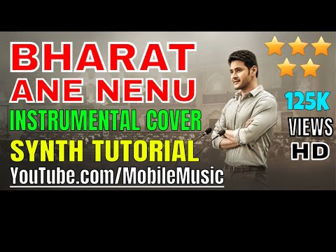 Bharat Ane Nenu - Karaoke Cover song - Learn To Play Piano Keyboard on Cubasis app