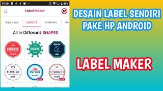 Cara Membuat Desain Label Merk dengan Aplikasi Label Maker