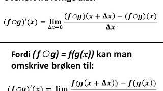 sammensat funktions differentialkvotient Bevis