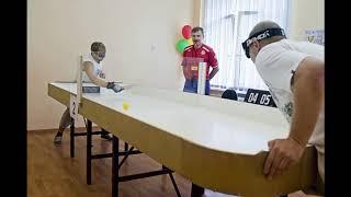Настольный теннис для слепых уроки для начинающих от Сергея Кислицкого   Интервью с чемпионом респуб