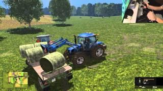Let S Play Farming Simulator 2015 38 Zbieranie Bel D Kierownica Pad Xd Youtube