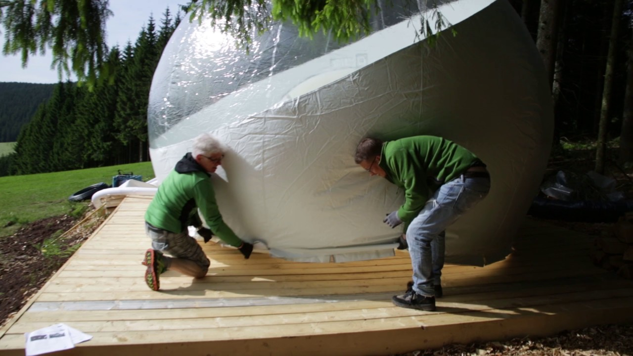 Aufbau Bubble Tent & Aufbau Bubble Tent - YouTube