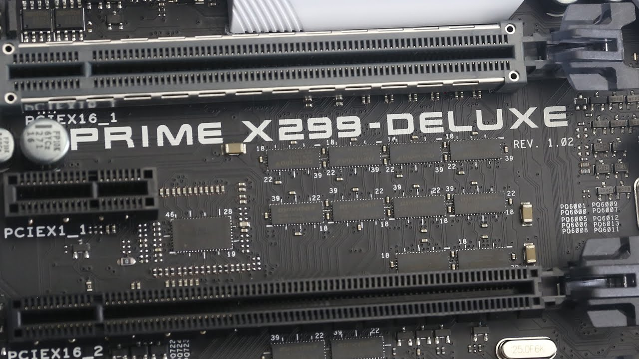 Asus Prime X299 Deluxe Preview Dlx