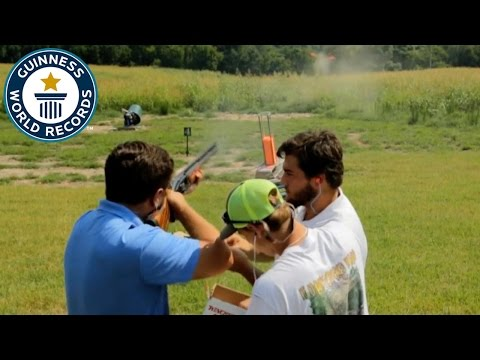 Clay pigeon shooting speed record - Guinness World Records