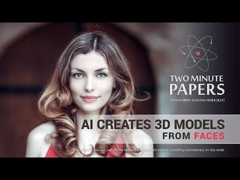 AI Creates 3D Models From Faces | Two Minute Papers #149