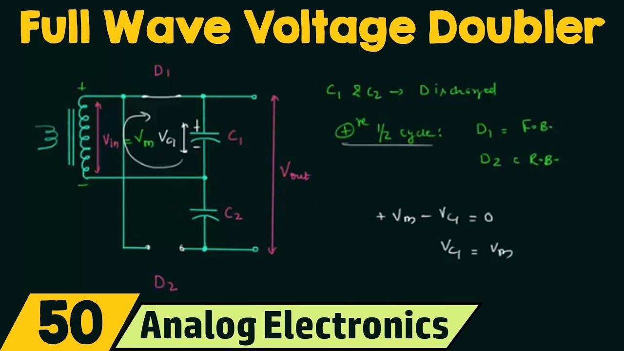 Voltage Multiplier Circuits Full Wave Voltage Doubler