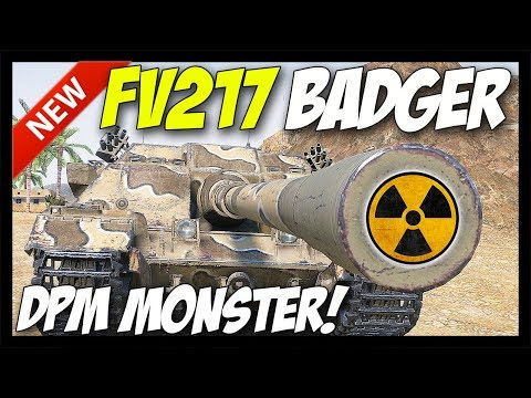 ► FV217 Badger - 4,800 DPM MONSTER! - World of Tanks FV217 Badger - 9.21 Update Test Server thumbnail