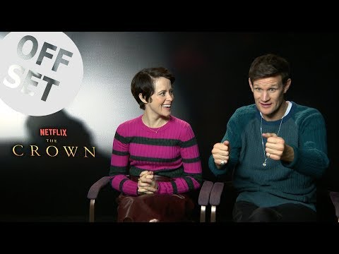 Claire Foy and Matt Smith teach us how to befriend The Crown's corgis!