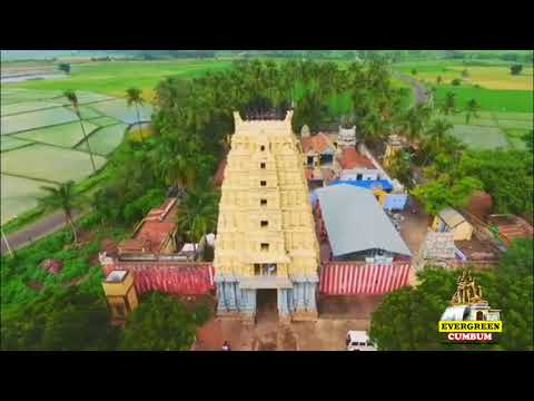 Theni   Nature Beauty   Arial View of Sivagami Amman Kovil   Chinnamanur