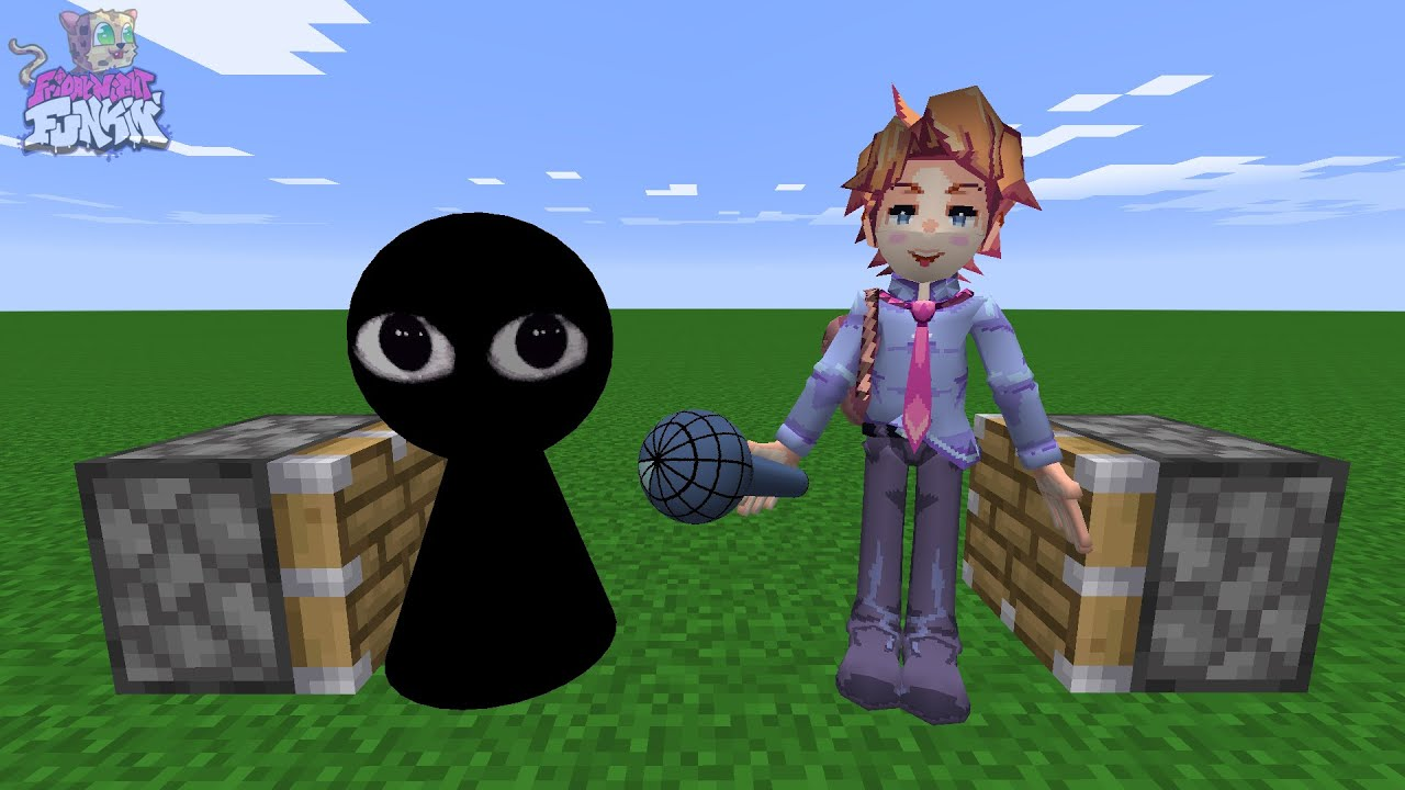 Bob + Senpai = ??? | This is Real FNF in Minecraft