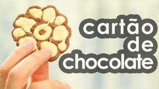 Cartão de chocolate (presente para Dia dos namorados e Páscoa) (receita)