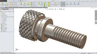 Solidworks tutorial How to make Knurling Screw