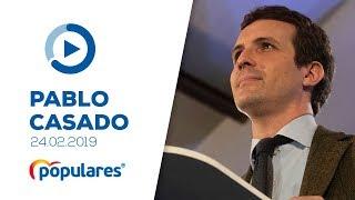 Pablo Casado en la clausura de la Convención de Cohesión Territorial del Partido Popular de Toledo