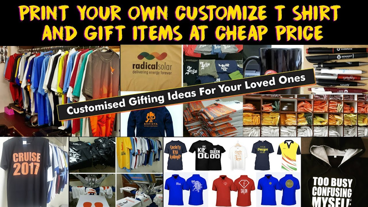 Custom T Shirt Gift Items In Cheap Design Your Own T Shirt