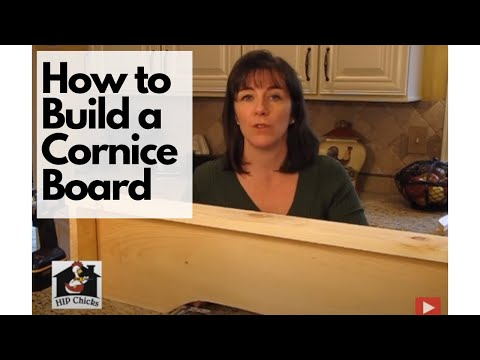How To Diy Build A Cornice Board Hip Chicks Part 1 Youtube