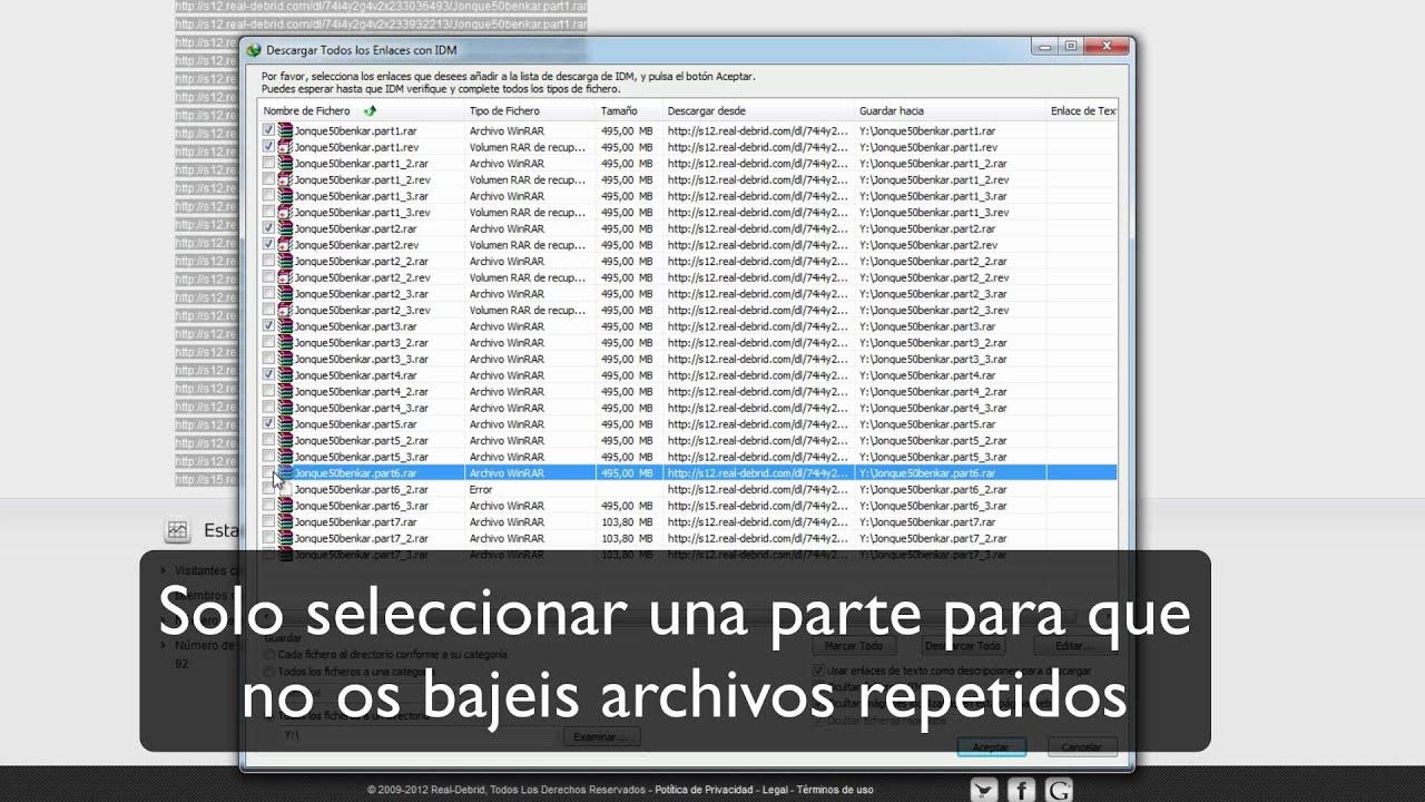 IDM con Real-Debrid [Para Windows]
