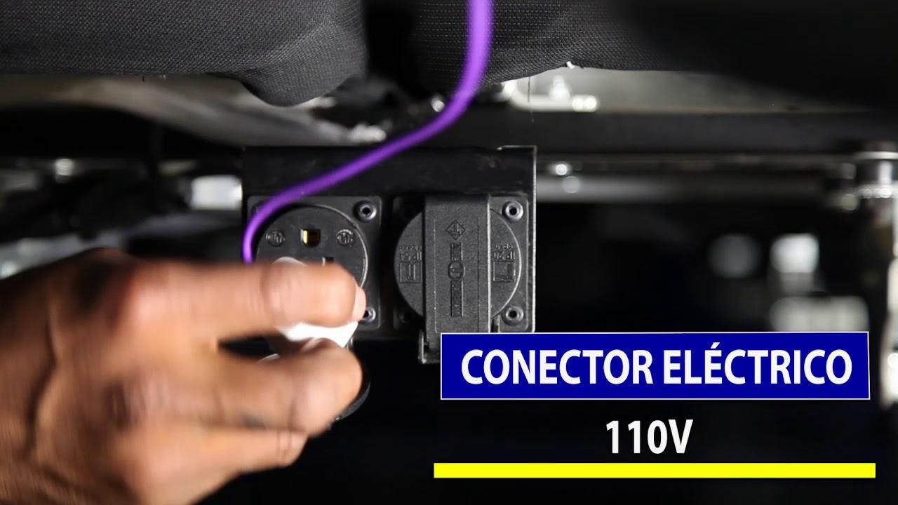 Conectores Eléctricos y USB  abordo Autobuses Aexa