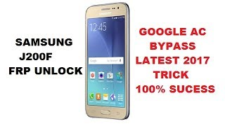 Samsung J200f Frp Unlock Without Pc New Method 100% Sucess