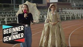 400-Meter-Lauf: Ruth Spelmeyer im barocken 7 Kilo-Kleid | Beginner gegen Gewinner | ProSieben