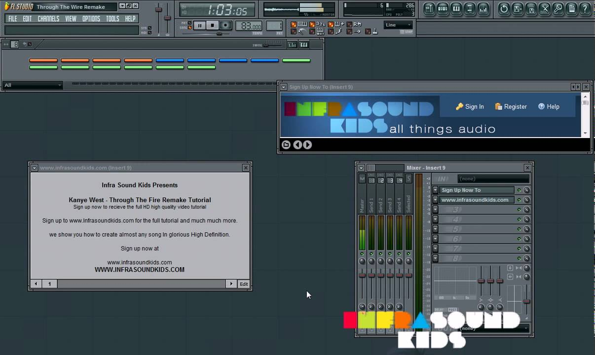 Download REMAKE OF KANYE WEST - THROUGH THE WIRE ON FRUITY LOOPS STUDIO