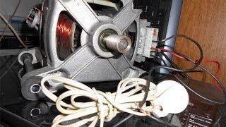видео как подключить двигатель от стиральной машины автомат