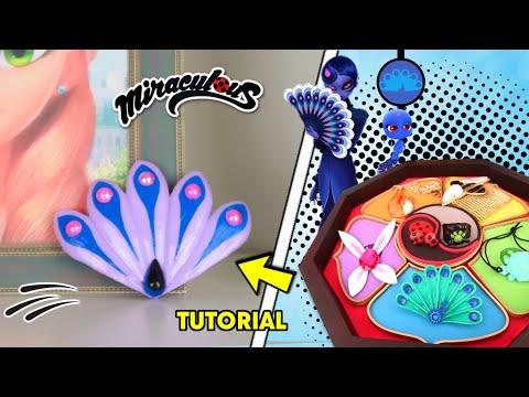 DIY Los Nuevos Miráculous De Ladybug | Como Hacer El Prodigio Del Pavo Real De Mayura