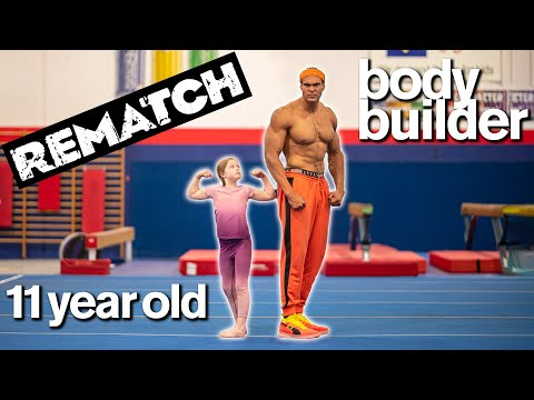 BODYBUILDER vs MY DAUGHTER Part 2- Cute Fitness and Gymnastics Challenge