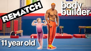 BODYBUILDER vs 11-YEAR-OLD - Cute Fitness and Gymnastics Challenge